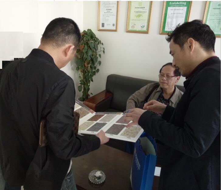 武汉中地装饰工程有限公司张总来伊莱格参观考察